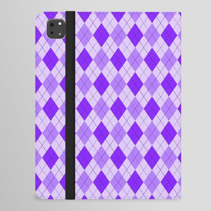 Purple argyle pattern