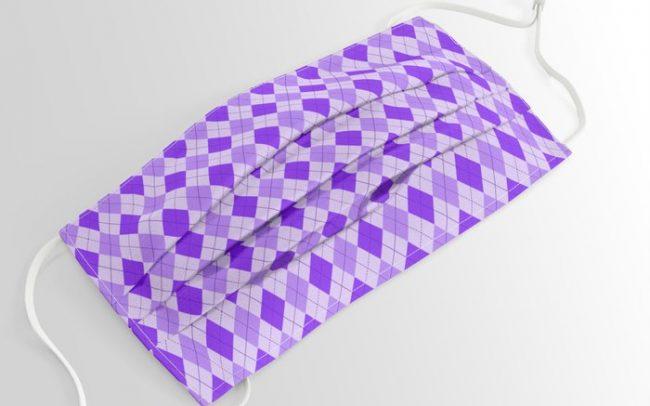 Purple argyle pattern