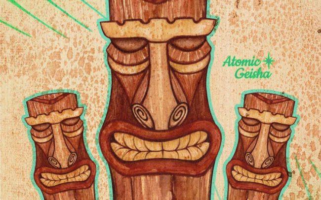 tiki art jungle illustration