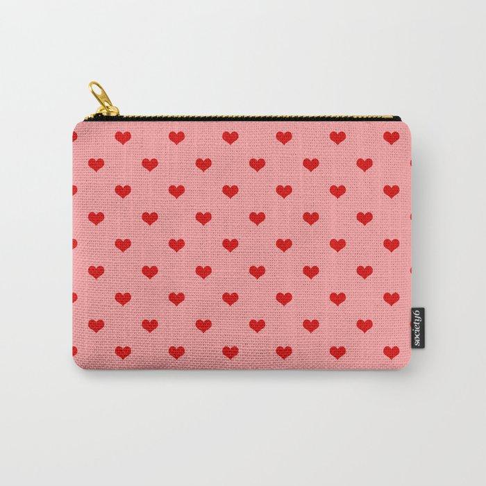 valentines hearts pouche bag